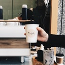 A cup to start the weekend - #hungryhungrymonster #burpple #kyucoffeebar #handswithcoffeecups