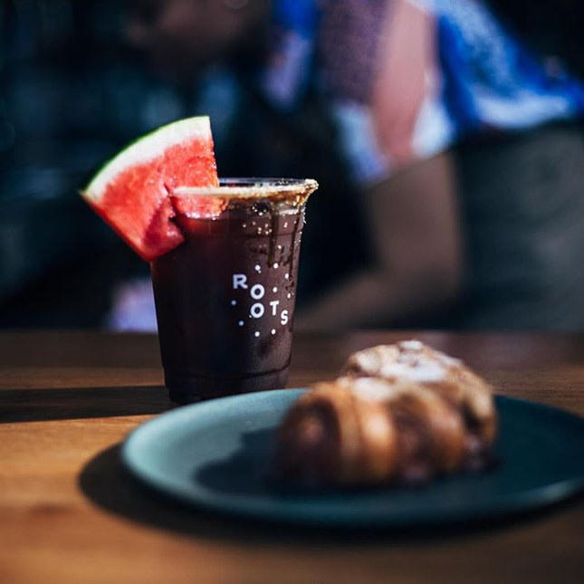 Watermelon cold brew - Refreshingly quenching in the unbearable heat.