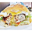 Tsukune Burger (SGD $12) @ The Travelling C.O.W.