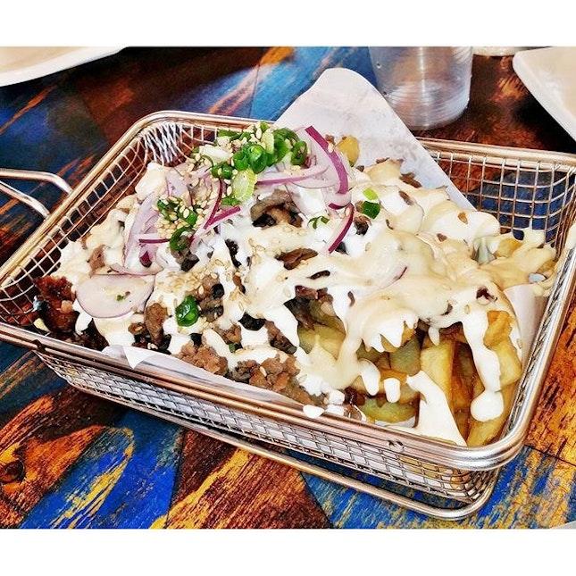 Bulgogi Fries (SGD $18) @ Chicken Up.