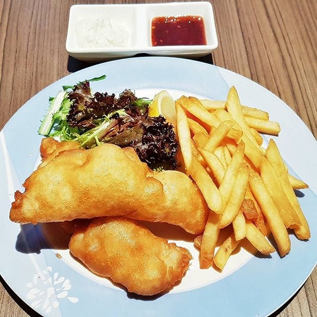 Fish & Chips (SGD $17.95) @ Greenwood Fish Market & Bistro.