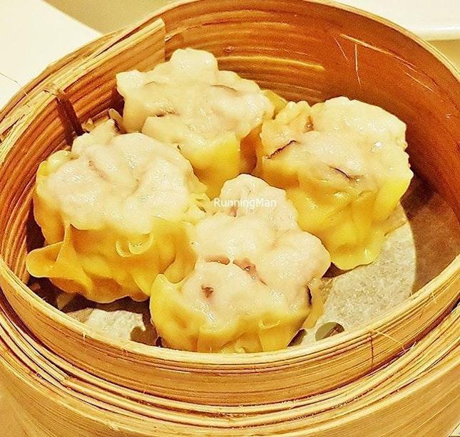 Steamed Siew Mai Pork And Prawn  Dumplings @ Tunglok Teahouse.
