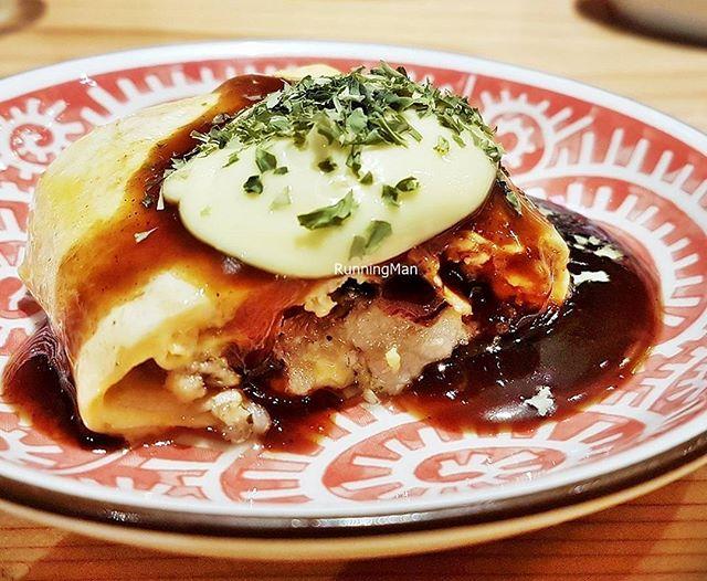 Pork Belly Bacon Omelette (Omakase Set) @ Osaka Kitchen Teppanyaki.