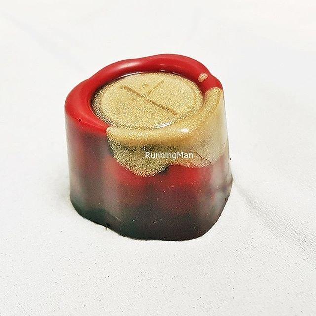 Bonbon - Singapore Signature Series #5 - Bak Kwa Praline Pop Rocks (SGD $3 per piece) @ Janice Wong Confectionery Boutique.