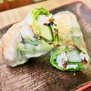 Goi Cuon / Fresh Spring Rolls Prawn (SGD $3.50) @ Sandwich Saigon Cafe.