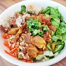 Bun Thit Nuong Cha Gio / Grilled Pork And Spring Roll Rice Noodle (SGD $11) @ Sandwich Saigon Cafe.