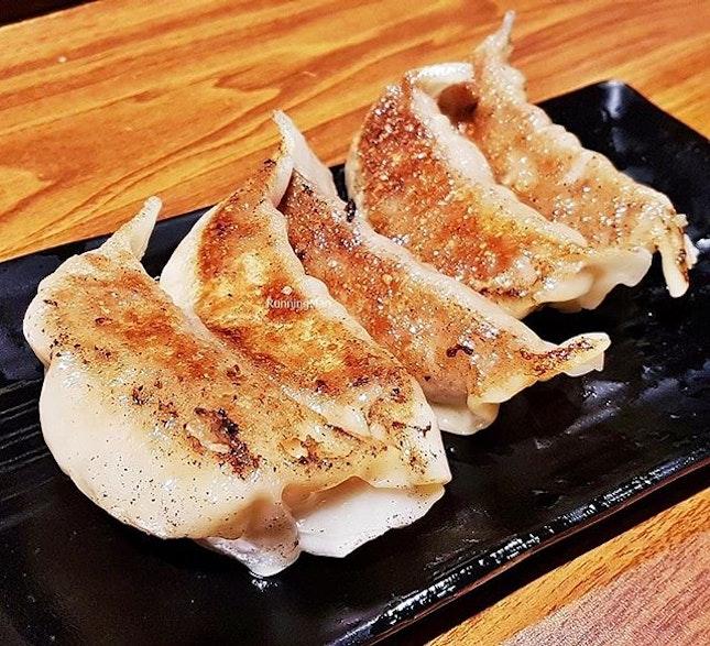 Yaki Buta / Pan-Fried Pork Dumplings (SGD $4.80) @ Gyoza-Ya.