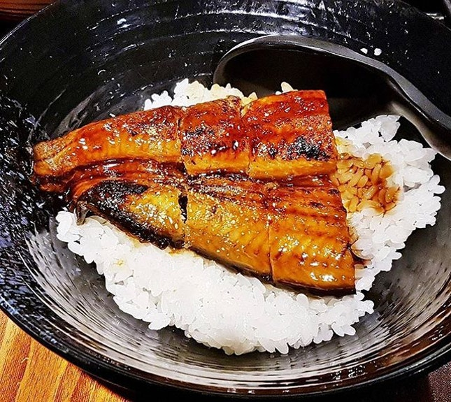 Unagi Don / Grilled Freshwater Eel With Rice (SGD $14.80) @ Gyoza-Ya.