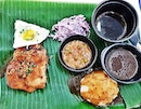 Chope Chicken With Purple Coleslaw, Beans Stew, Mashed Potatoes (SGD $11.90) @ Noods & Meats.