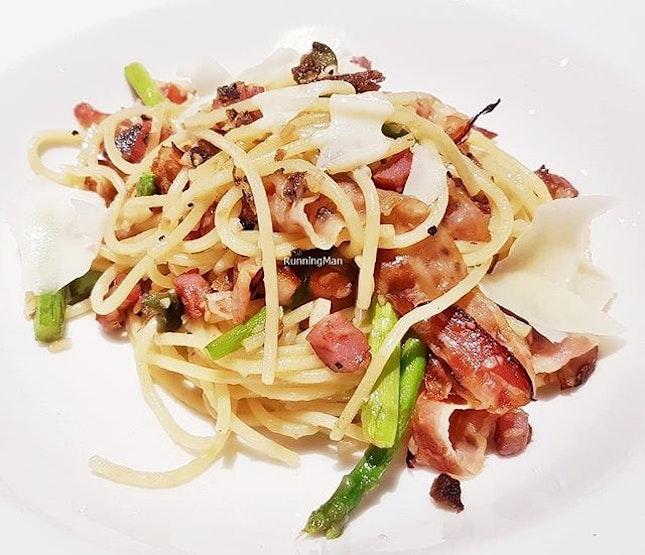 Pasta Spaghetti Di Pancetta E Asparagi (SGD $24) @ PizzaExpress.
