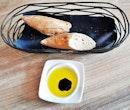 Bread Baguette & Castillo De Canena Arbequina Extra Virgin Olive Oil With Balsamic Vinegar (SGD $Complimentary) @ La Cala.