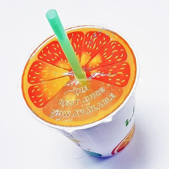 Orange Juice (SGD $2) @ IJooz Vending Machine.