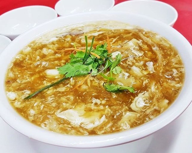 Crab Meat With Fish Maw Thick Soup (SGD $18 / $24 / $30) @ Jin Hock Seafood Restaurant.