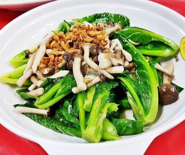 Kai-Lan With Mushrooms (SGD $12 / $18 / $24) @ Jin Hock Seafood Restaurant.