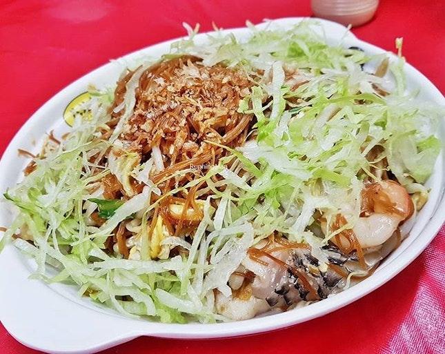Stir-Fried Mee Sua (SGD $7 / $12 / $16) @ Jin Hock Seafood Restaurant.