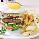 Beef Burger Double (SGD $18) @ The MeatHouse By E18hteen Chefs.