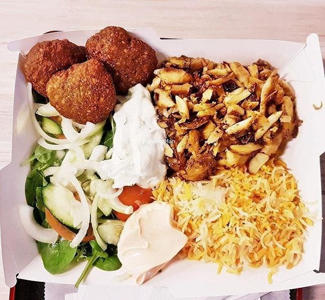 Chicken Gyro Box With Falafel (SGD $14 + $7) @ Yeero Gyro By Pistachio.