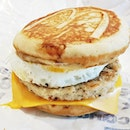 Sausage McGriddles With Egg (SGD $5.40) @ McDonald's Singapore.