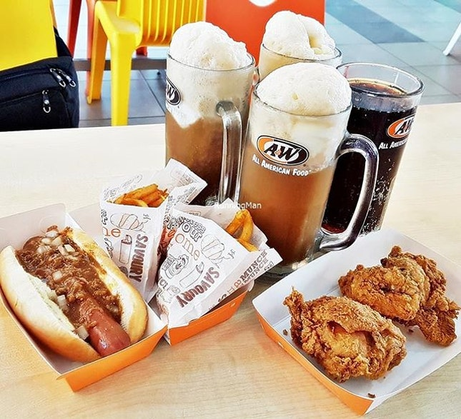 Coney Combo & Golden Chicken Combo @ A&W.