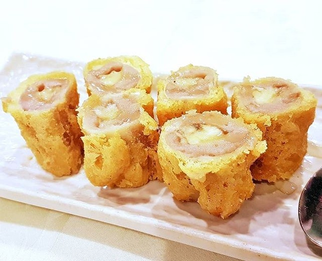 Deep-Fried Banana Yam Roll (SGD $12) @ Tonny Restaurant.