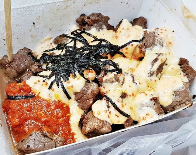 Mentaiko Beef Cubes (SGD $14.90) @ Beef Bro.