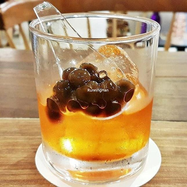 Cocktail Thai Milk Tea Old Fashioned (SGD $12) @ Tanuki Raw.