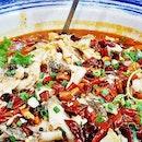 Poached Catfish In Hot Chili Oil (SGD $29.80) @ Shou La Shou.