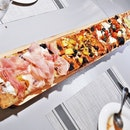 The 1-Metre Pizza Board (SGD $50) @ Roots Mediterranean.