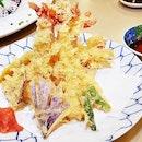 Assorted Tempura Moriawase (SGD $25) @ Botan Japanese Restaurant.