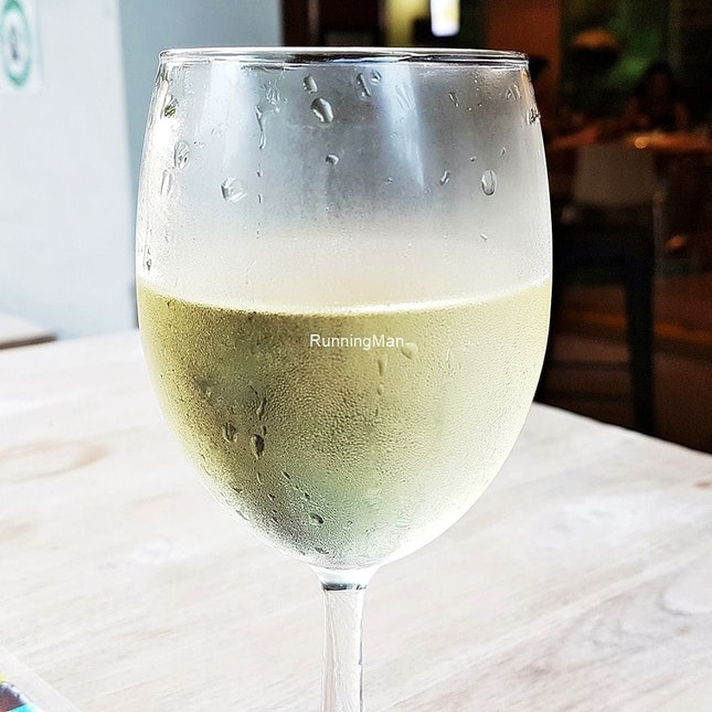 Wine Rothbury Estate Sémillon Sauvignon Blanc (SGD $13) @ Boomarang Bistro & Bar.