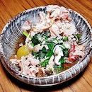 Ohitashi / Blanched Spinach In Dashi Broth (SGD $9) @ Dashi Master Marusaya.