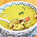 Gaeng Keow Wan Gai / Green Curry Chicken (SGD $8) @ Nangfa Thai Kitchen.