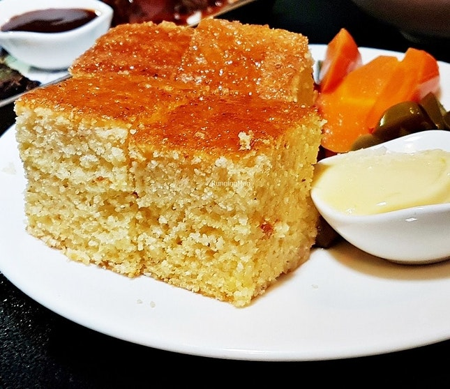 Corn Bread With Smoked Butter, Assorted Pickles (SGD $15) @ MeatSmith.