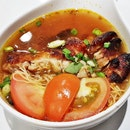 Chicken Chop Tomato Noodles Soup (SGD $10.50) @ Wan Chai Hong Kong Tea Room.