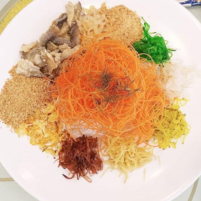 Spanish Iberico Yu Sheng $88 for large @tonny_restaurant .