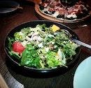 Watermelon Salad - watermelon, avocado, feta, rocket, pumpkin seed and balsamic vinegar $26.