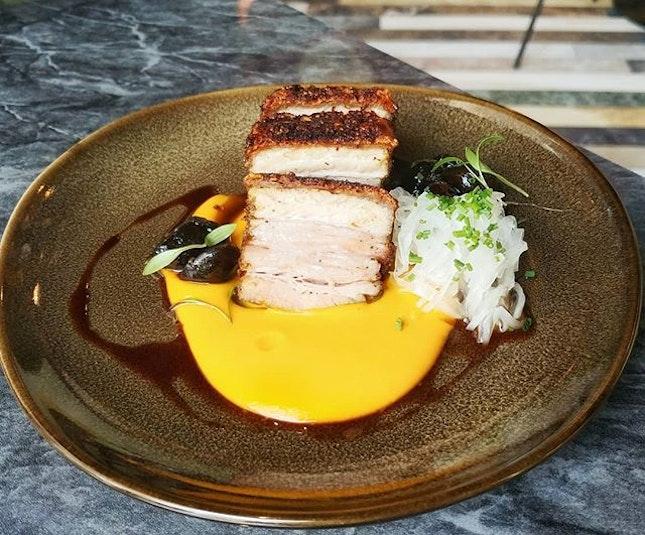 Crispy Pork Belly ($15) @frapasbar .