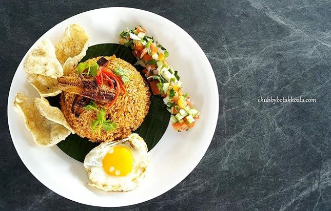 Nasi Goreng Sambal Sardine ($13.90, Signature Dish).
