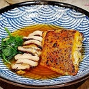 Miso-Grilled Halibut ($20.80).