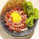 Wagyu Yukke Sashimi– Marinated Wagyu Beef with Egg Yolk.