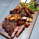 Meat Platter ($40/$56) – New Zealand Lamb Rack, Grilled Australian Beef, Pork Sausage, Chicken & Beef Satay, Served with Mixed Olives, Mixed Mesclun Salad, Grain Mustard & Mint Yoghurt Sauce.