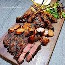 Meat Platter ($40/$56) – New Zealand Lamb Rack, Grilled Australian Beef, Pork Sausage, Chicken & Beef Satay, Served with Mixed Olives, Mixed Mesclun Salad, Grain Mustard & Mint Yoghurt Sauce.