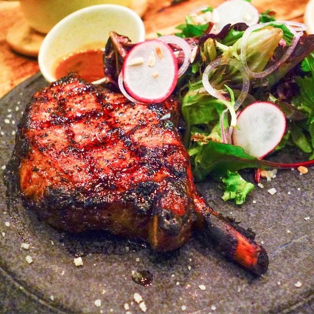 DeRaza Iberico Pork Chop • $36++