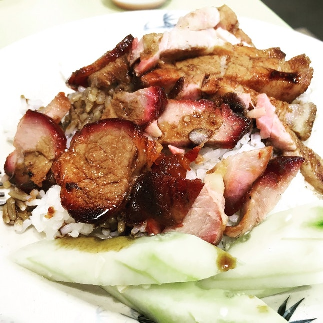 Roasted And BBQ Pork Rice • $3