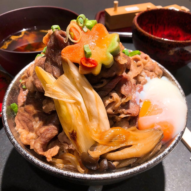 Beef Sukiyaki Don | $13.9++, add on 120g beef for $10++