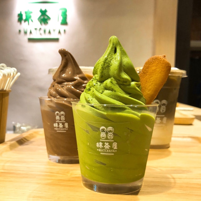 Matcha Soft Serve Ice Cream | $5.9