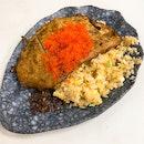 X.O. Fried Rice w Pork Cutlet + Tobiko ($7.80 + $1)