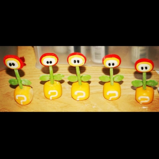 Super Mario's Fire Flowers