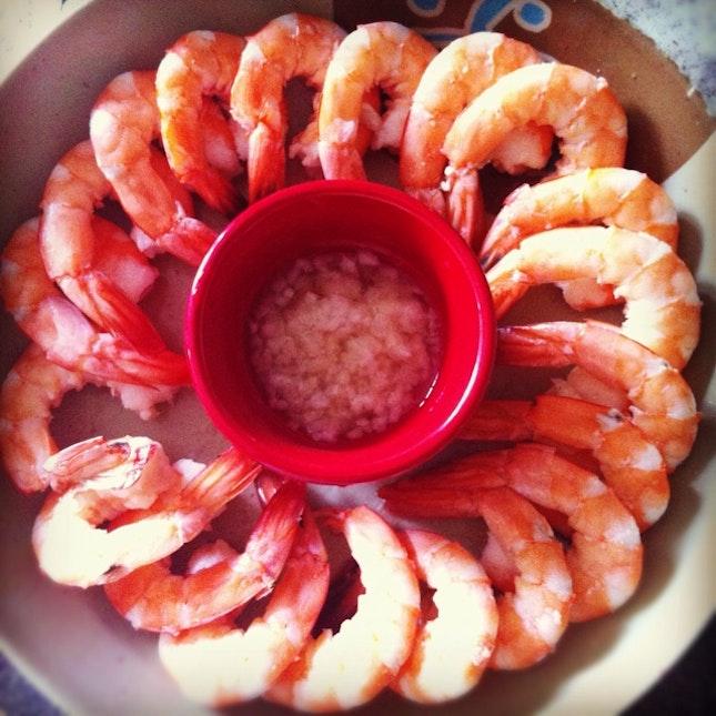 Poached Shrimps