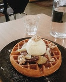 Always a foolproof place for waffles and the best vanilla ice cream.